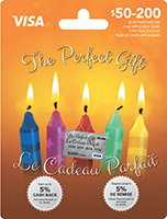 The Perfect Gift VISA Candles 50-200
